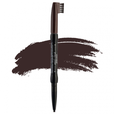 nyx auto brow dark brown 400x400 - Nyx Auto Eye Brow Pencil - Dark Brown