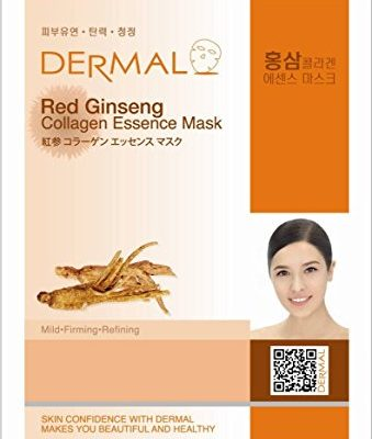 redginseng 339x400 - Dermal Red Ginseng Collagen Essence Mask