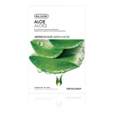 aloe 1 400x400 - Aloe Sheet Mask - The Face Shop
