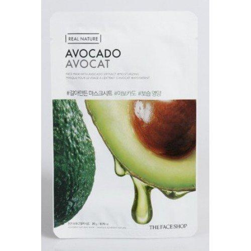 avocado 1 - Avocado Sheet Mask - The Face Shop