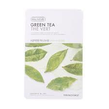 green - Green Tea Sheet Mask - The Face Shop