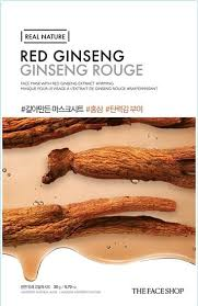 red ginseng - Red Ginseng Sheet Mask - The Face Shop