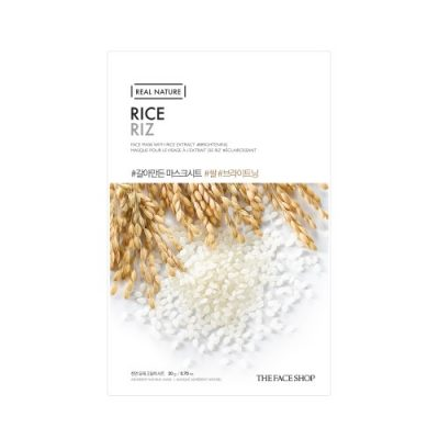 rice 400x400 - Rice Sheet Mask - The Face Shop