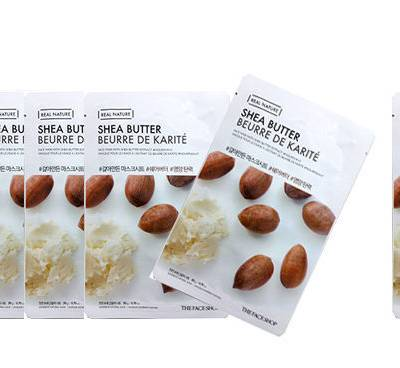 sheabutter 400x368 - Shea Butter Sheet Mask - The Face Shop