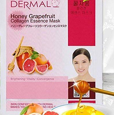 honey grapefruit 396x400 - Dermal Collagen Essence Sheet Mask - Honey Grapefruit