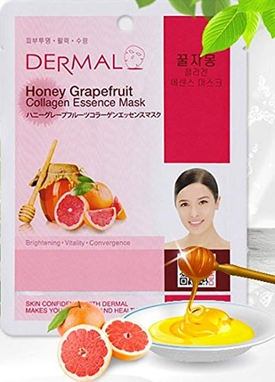 honey grapefruit - Dermal Collagen Essence Sheet Mask - Honey Grapefruit