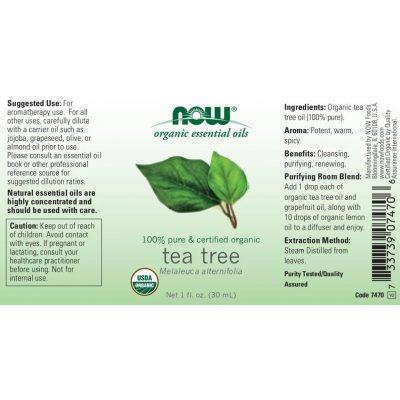 Now tea tree oil for aromatherapy