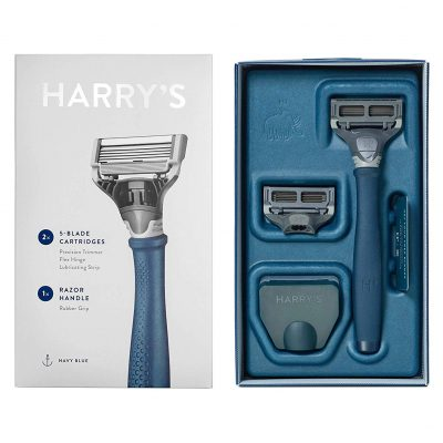91Z3fws4y7L. SL1500  400x400 - Harry's Razor 2X (5-blade Cartridges) - Navy Blue