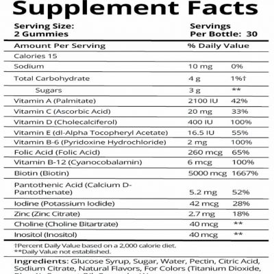 sugarbear2 400x400 - Sugarbear Hair Vitamin Gummies 60 Count
