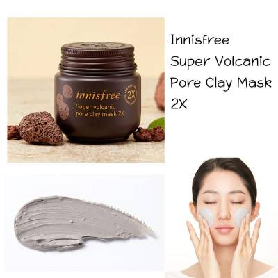 61g5SH2qqfL. SL1000  400x400 - Innisfree Pore Clay Mask 2X - Super Volcanic 100ml