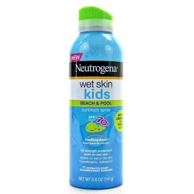 neu 400x400 - Neutrogena Beach Wet Skin Kids & pool Sunscreen Spray Broad Spectrum  with SPF 70+