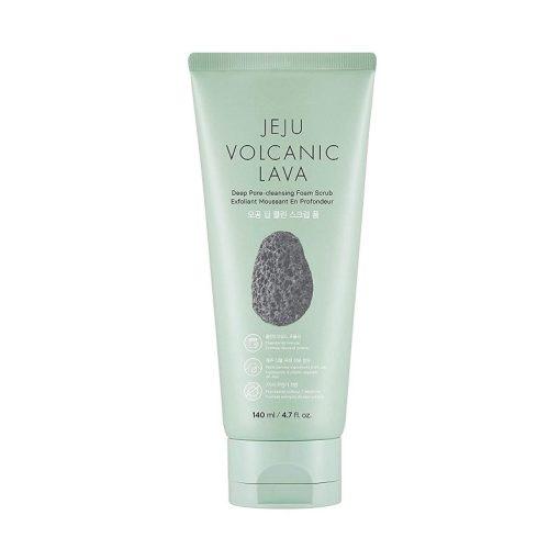 The Face Shop - Jeju Volcanic Lava Deep Pore Cleansing Foam Scrub 140ml-800x800