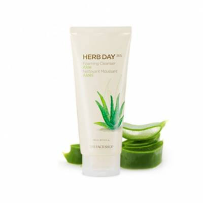 herbday 400x400 - The Face Shop Herb Day Aloe Foaming Cleanser 170 ML