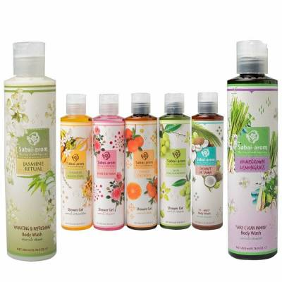 sabai arom shower gels 01 400x400 - Sabai Arom Shower Gel - Various Fragrances 200ml