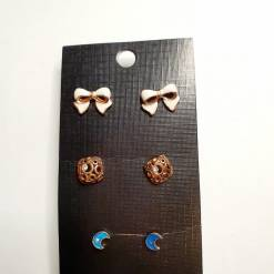 06 1 pc cost XX price 650 247x247 - Jewellery Ear Adornments - Bow Cube Moon Studs