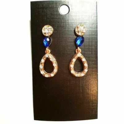 18 1 pc cost XX price 450 400x400 - Jewellery Ear Adornments - Blue Teardrops