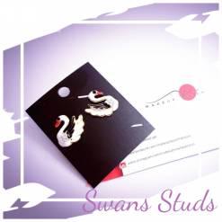 63 1 pc cost XX price YY 247x247 - Jewellery Ear Adornments - Swan Studs
