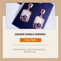 64 Z pc cost XX price 750 247x247 - Jewellery Ear Adornments - Square Dangling Earrings (Variations)