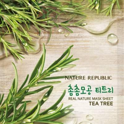 Nature republic sheet mask tea tree 400x400 - Nature Republic Real Nature Sheet Mask - Tea Tree