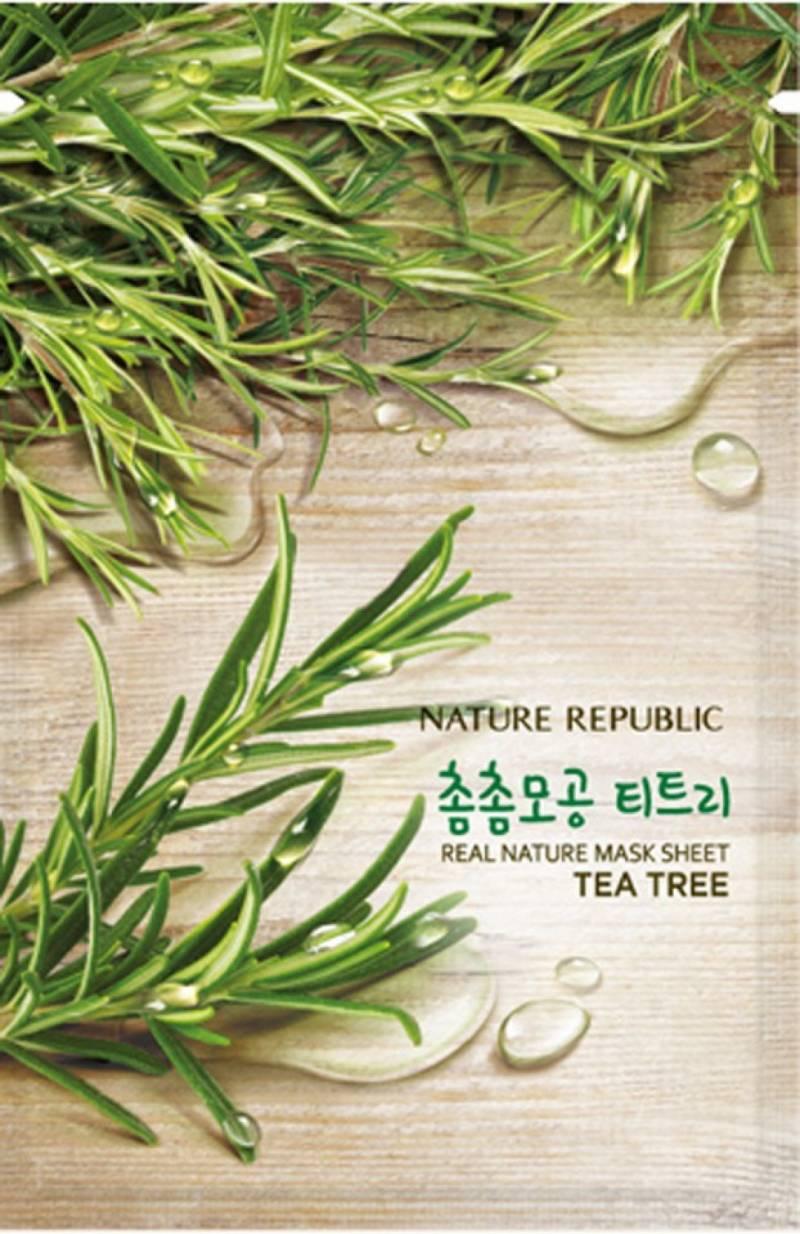 Nature republic sheet mask tea tree 800x1234 - Nature Republic Real Nature Sheet Mask - Tea Tree