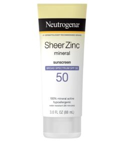Neutrogena Sunscreen - Sheer Zinc Dry Touch SPF50 88 ml in Pakistan