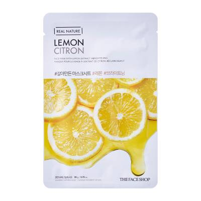 Sheet Mask Lemon 400x400 - The Face Shop Sheet Mask - Lemon