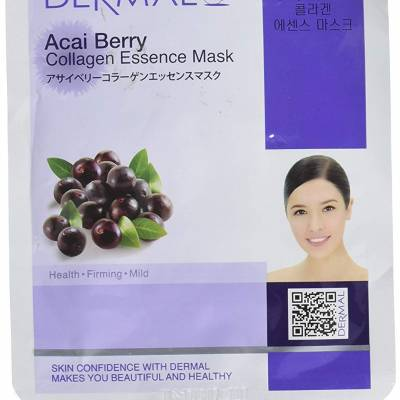 dermal collagen essence mask acai berry 400x400 - Dermal Sheet Mask Collagen Essence - Acai Berry
