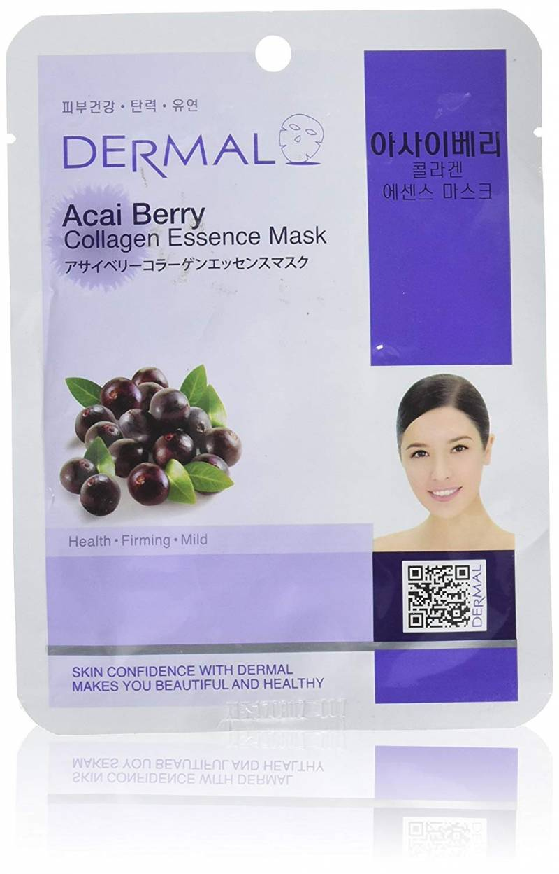 dermal collagen essence mask acai berry 800x1249 - Dermal Sheet Mask Collagen Essence - Acai Berry