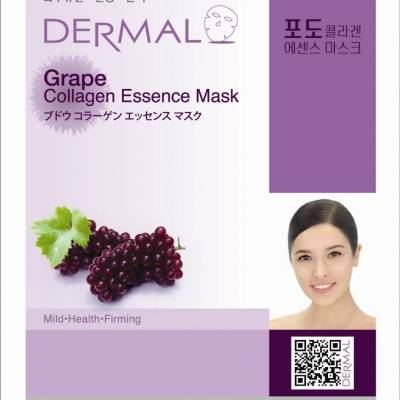 dermal grape collagen 400x400 - Dermal Sheet Mask Collagen Essence Mask - Grape