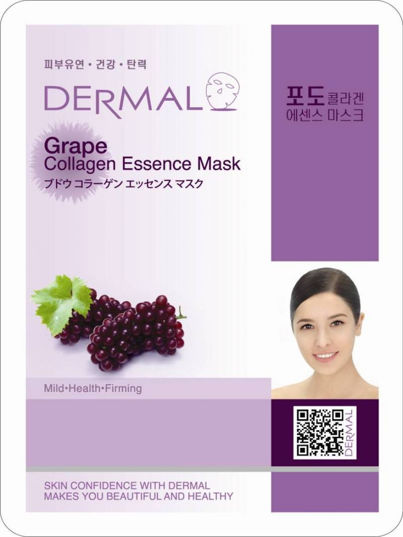 dermal grape collagen 800x1066 - Dermal Sheet Mask Collagen Essence Mask - Grape