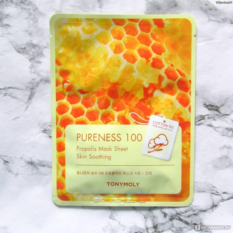 tony moly sheet mask pureness 100 800x800 - Tony Moly Sheet Mask Pureness 100 - Propolis