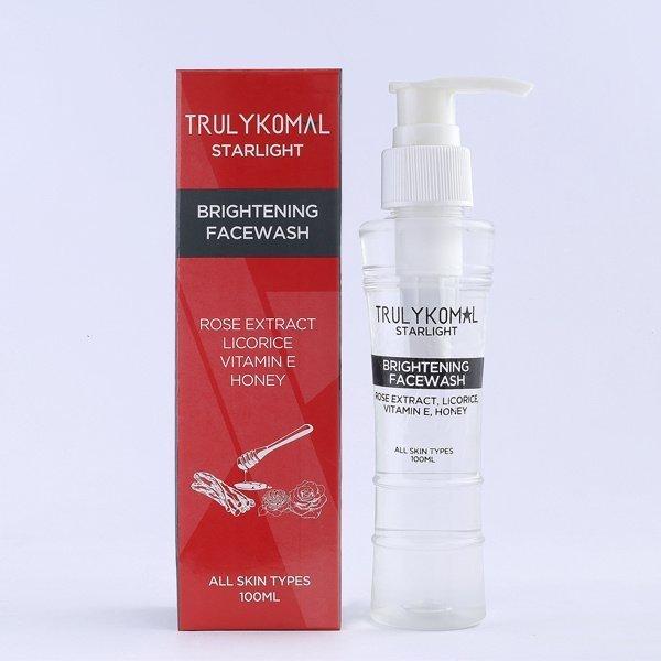 truly komal facewash brightening - Truly Komal Starlight - Brightening Facewash 100ml