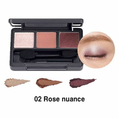rose 2 400x400 - The Face Shop Triple Eye Shadow - 02 Rose Nuance 3.2g