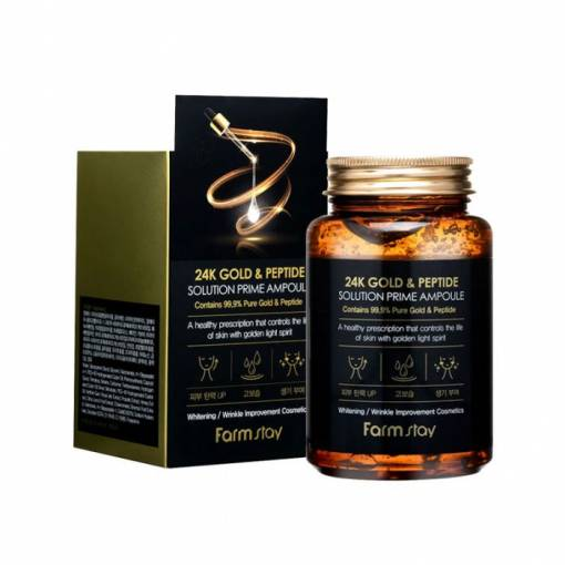 farmstay 24k gold & peptide solution prime ampoule