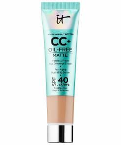 IT Cosmetics CC+ Oil+ Free Matte Cream, Anti-aging Broad spectrum with SPF 40.