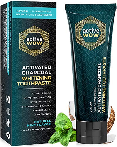 Activewow Activated Charcoal Teeth Whitening Toothpaste