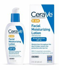 CeraVe AM Facial Moisturizing Lotion SPF 30 Oil-Free Face Moisturizer with Sunscreen 60 ML