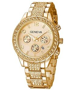 Luxury gold wrist watch for women