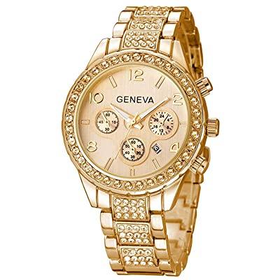 Luxury gold wrist watch for women