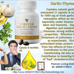 Forever living garlic thyme dietary supplement multivitmains