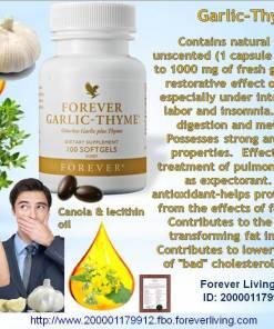 Forever living garlic thyme dietary supplement multivitmains