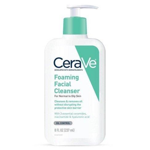 Cerave Foaming Facial cleanser 8 oz