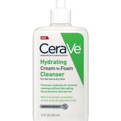 Cerave Hydrating Cream-to-foam Cleanser for normal to dry skin 237 ML