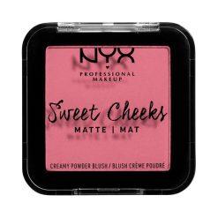 nyx sweet creamy powder blush matte rose & play