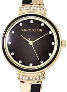 Anne Klein Women's Swarovski Crystal Accented Watch and No Touch Key