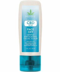 Hempz CBD Face off Gentle Exfoliating Facial Scrub 59 ML