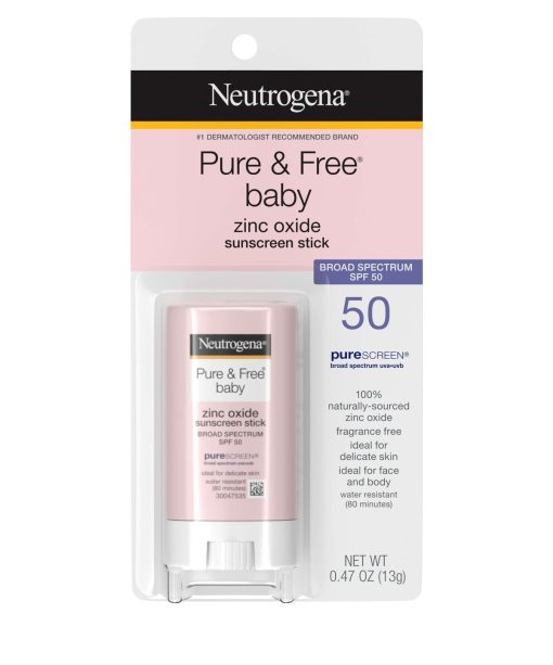Neutrogena Pure & Free Baby Mineral Sunscreen Stick with Broad Spectrum SPF 50